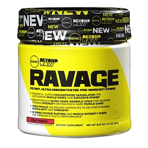 gnc ravage pre-workout powder beyond raw supplement powder rating