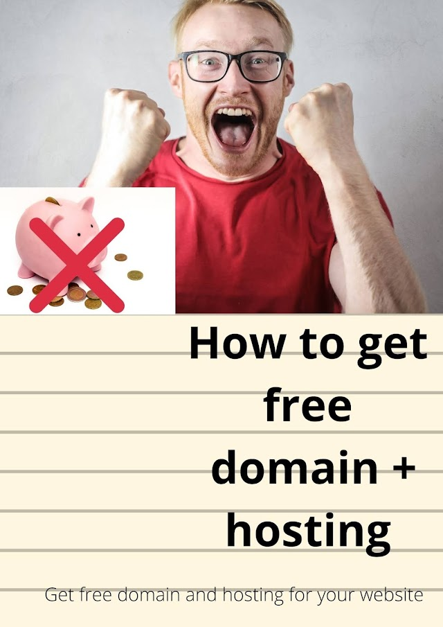 How to get domain + hosting for your website for free