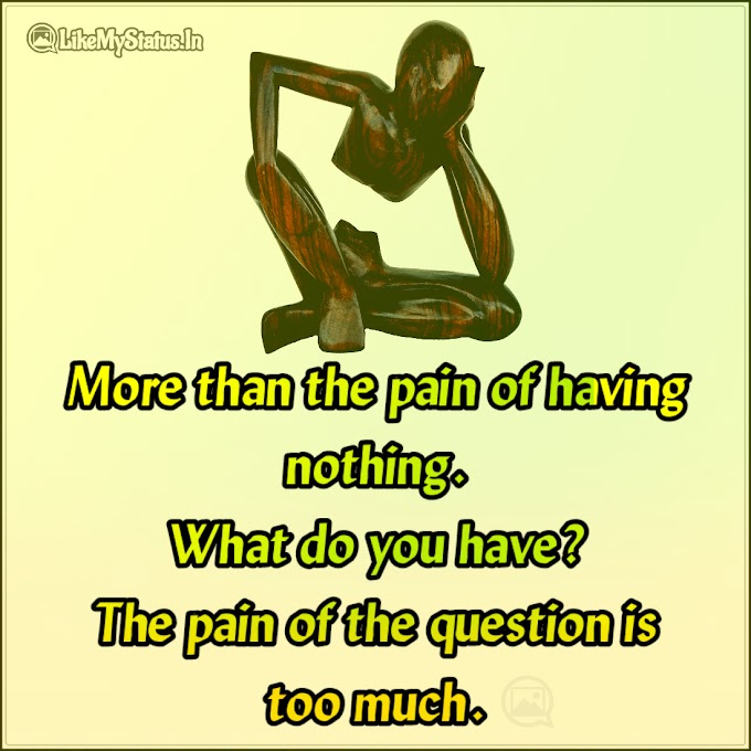What do you have? | Pain English Quote
