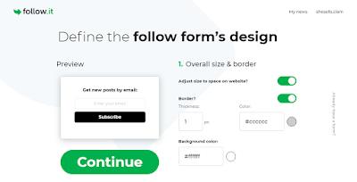 desain form email follow it pengganti feedburner
