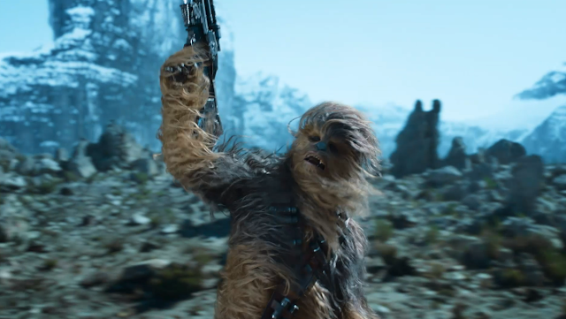 "Image from the Renault's ""Star Wars"" TV commercial [starring Chewbacca]"