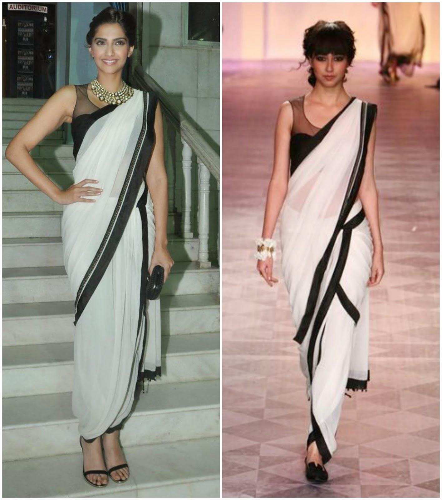 How-to-wear-saree-in-dhoti-style-Indo-western-Half-saree-Pant-saree