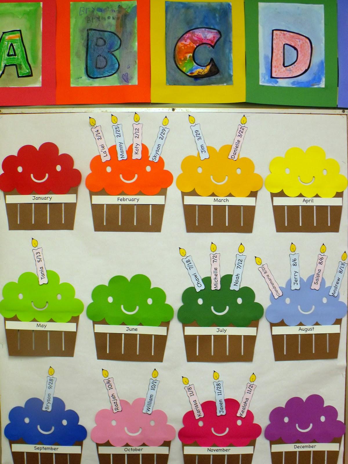 Classroom Birthday Wall Decorations