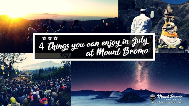 July schedule for Mount Bromo
