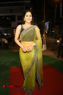 Actress Regina Stills in Green Saree at Vivaha Bhojanambu Restaurant Launch  0159.JPG