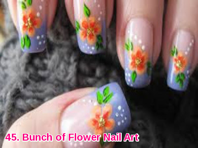 Bunch of Flower Nail Art