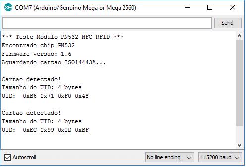 Serial Monitor PN532