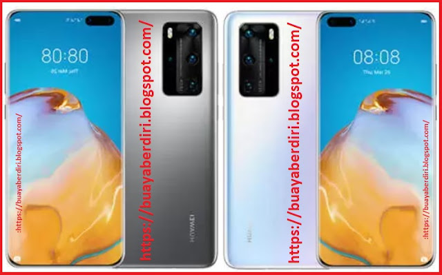 Specs Huawei P40 Pro+ 8GB/512GB ( Color : White And Black )