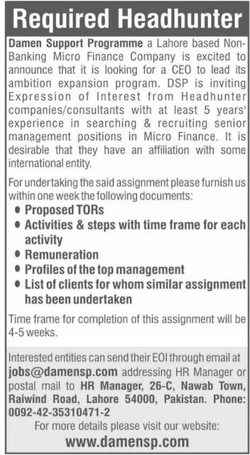 damen-support-program-lahore-jobs-2020