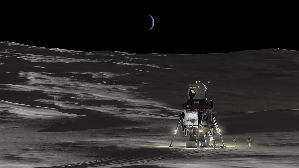 Lockheed Martin Lunar lander on the Moon