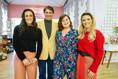 Nadja, Olivier, Nanci e Beca (Crédito: Zé Paulo Cardeal/SBT)