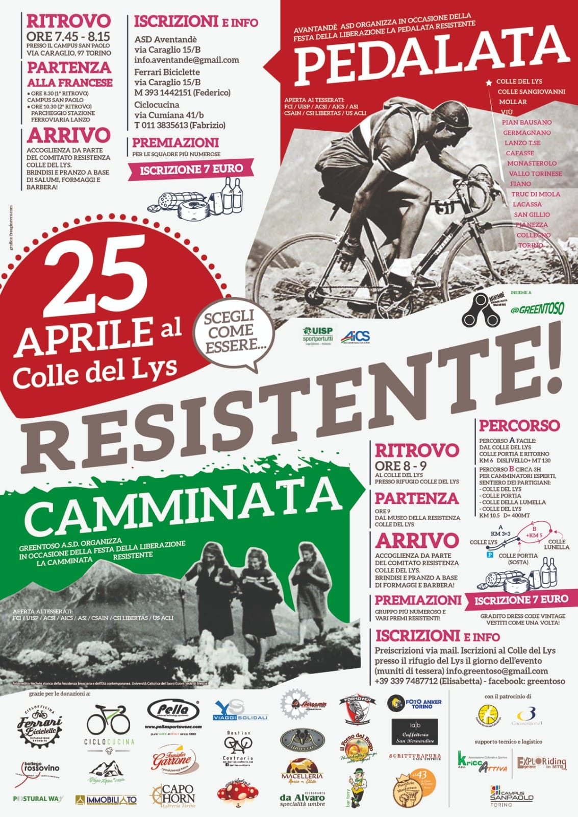 25 Aprile 2019 Pedalata Resistente Col Del Lys