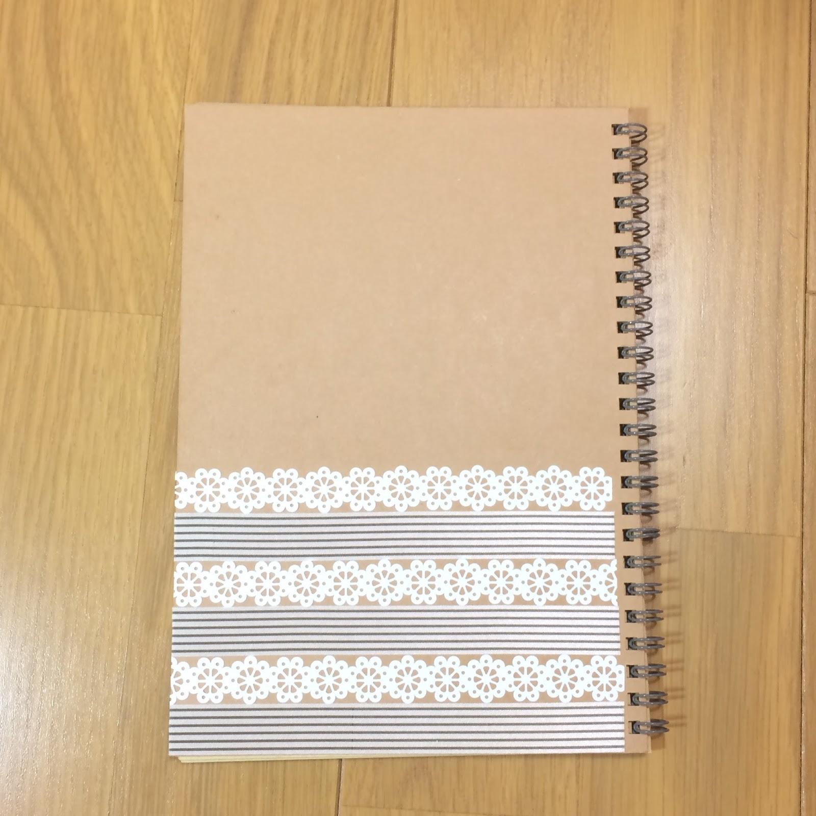 クラフトデスクノート・マンスリー帳をアレンジ12