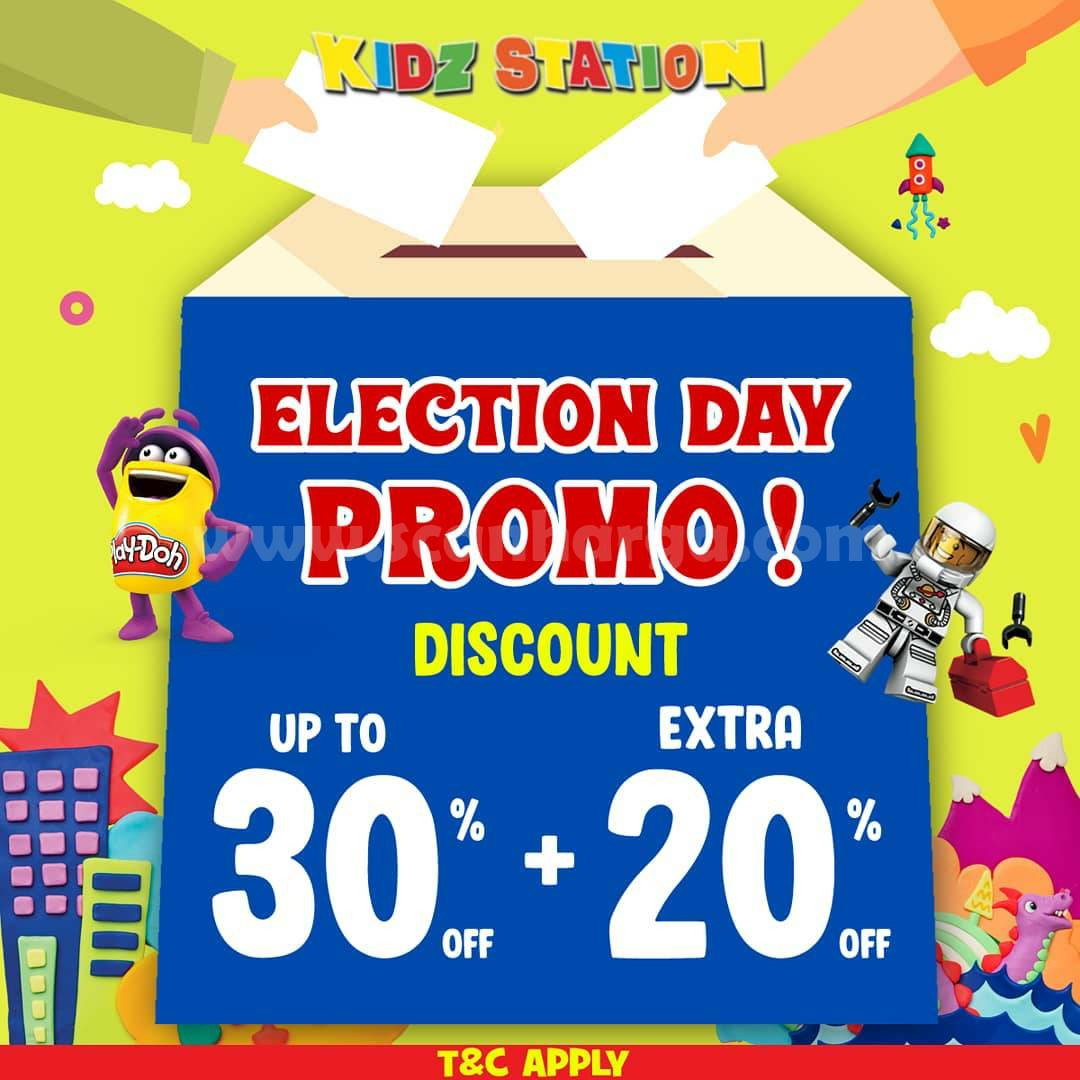 Promo Kidz Station Pilkada - Diskon 30% + Extra 20 % untuk Mainan Favoritmu