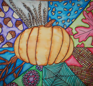 art sub plan with pumpkin and patterns