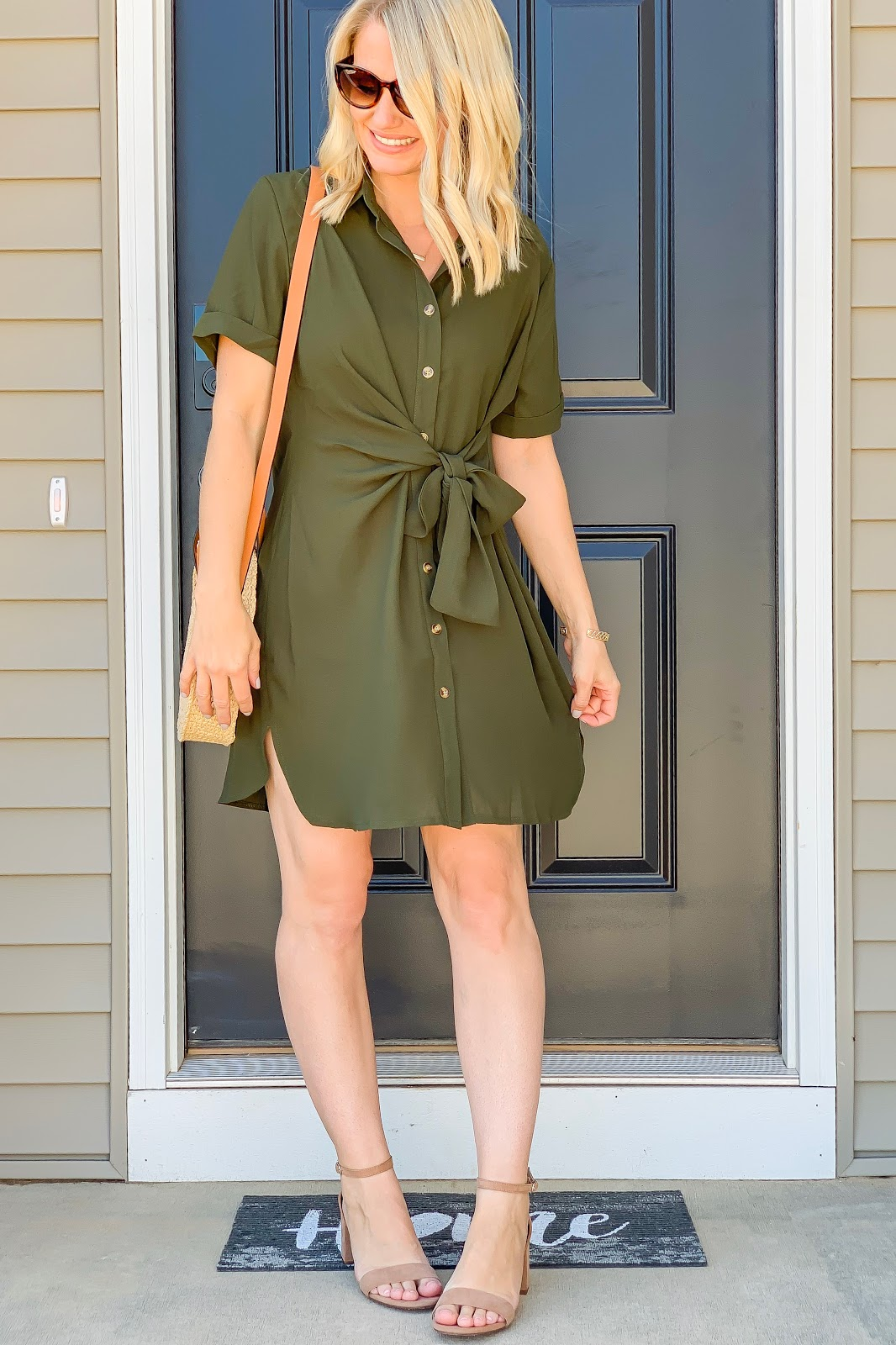Green shirt dress from Amazon