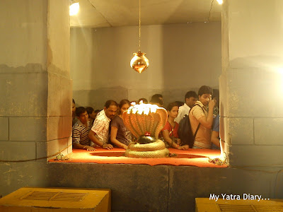 A Shivling inside the Ganesh Galli Ganpati Pandal compound in Mumbai