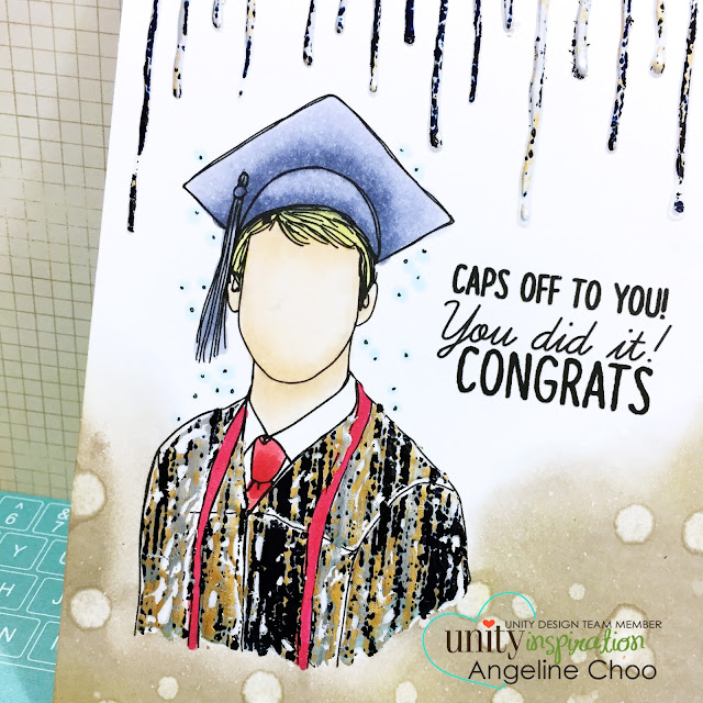 ScrappyScrappy: [NEW VIDEO] April Release Hop with Unity Stamp - Graduation Card #scrappyscrappy #unitystampco #card #cardmaking #papercraft #craft #scrapbook #thermoweb #primarubonfoil #timholtz #distressink #graduationcard #graduation #quicktipvideo