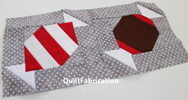 peppermint and tootsie roll quilt blocks by QuiltFabrication
