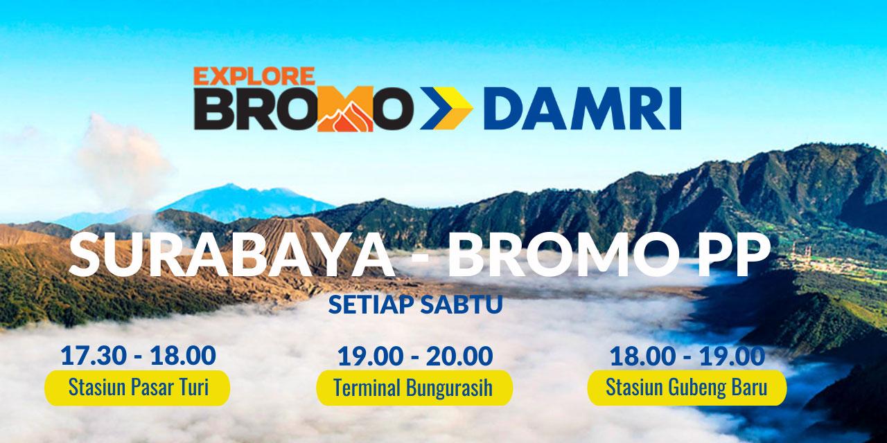 DAMRI rute Bromo plus paket wisata bromo