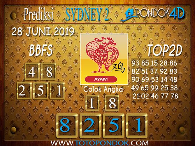 Prediksi Togel SYDNEY 2 PONDOK4D 28 JUNI 2019