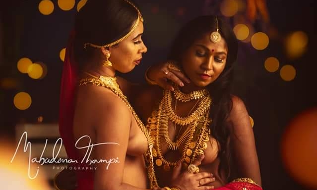 Nothing matters in Love, Neither Colour, Nor gender; Seminude photoshoot by celebrity photographer Mahadevan Thampi