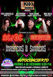 Kiss Lounge rendirá homenaje a Scorpions y AC/DC en autoconcierto y streaming
