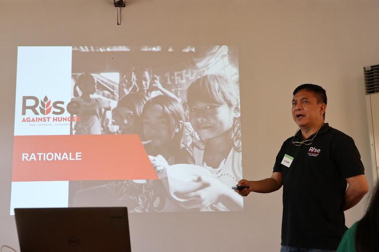 Jomar Fleras of Rise Against Hunger Philippines