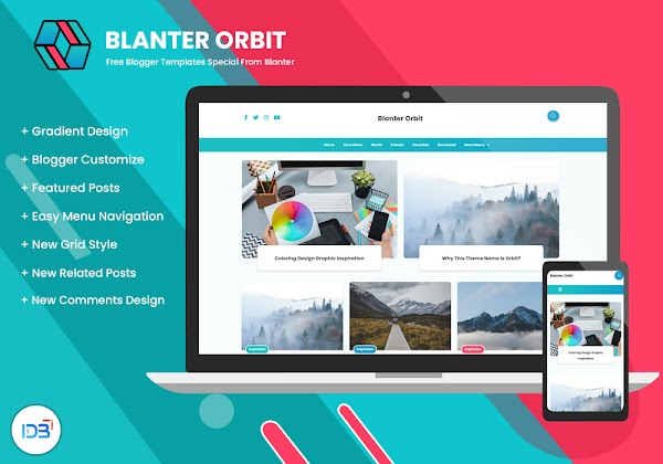 Blanter Orbit, Template Blogger Gratis Untuk Semua