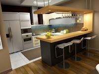 7 Contoh Desain Gambar Dapur Modern Yang Cantik