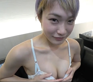 Hot Boyish Blonde Asian Strips Naked And Spreads Her Pussy For Finger
