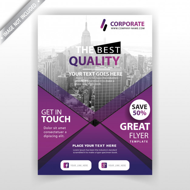 Business commercial brochure Free Vector