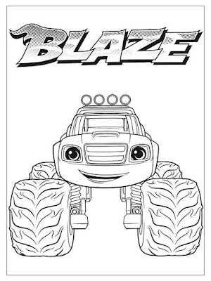 mewarnai gambar blaze and the monster machines blaze