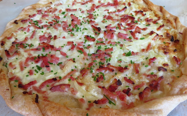 Alsation Bacon & Onion Tart