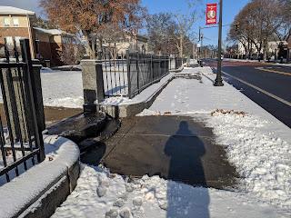 sidewalk shoveling quality varies around town