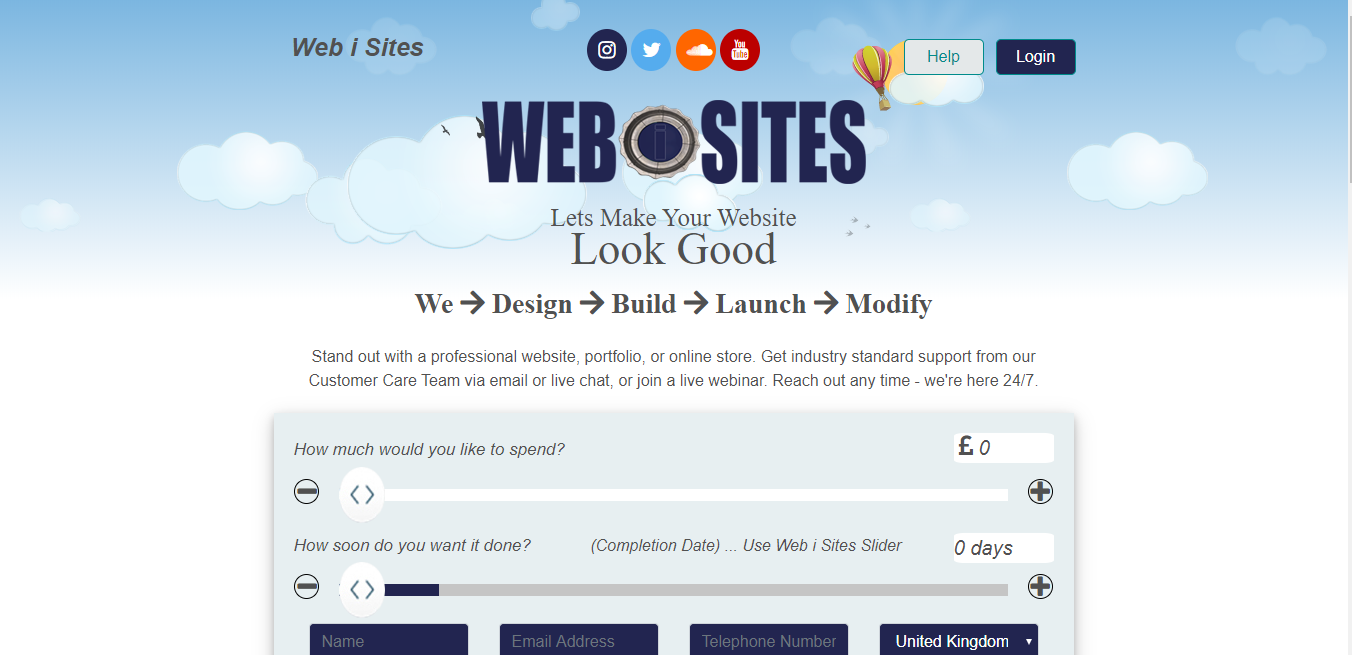 Core PHP Agency Website