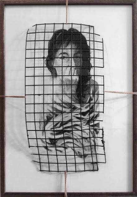 Bound -drawing and mixed media - Rosemary Marchetta