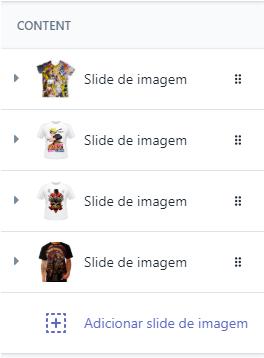 personalizar loja virtual adicionar slideshow