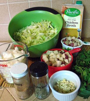 Ingredients for Vegan Cream of Celery Soup