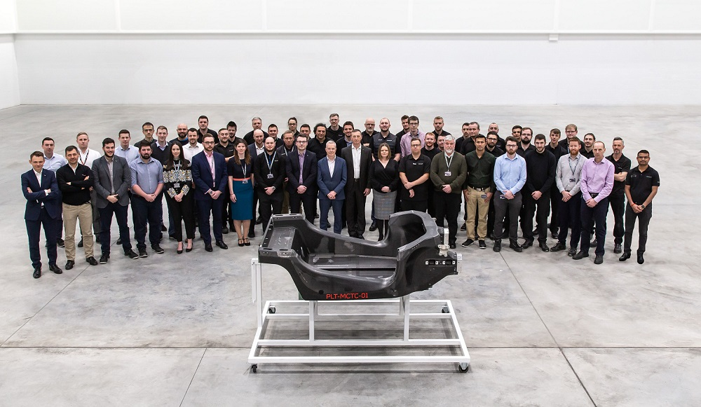 First prototype carbon fibre chassis delivered from McLaren's new innovation and manufacturing centre