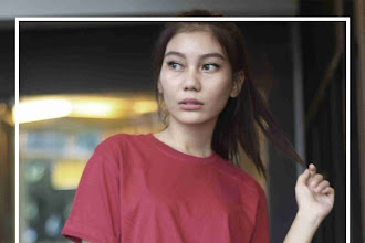 Kaos Polos Lengan Pendek Warna Merah Maron