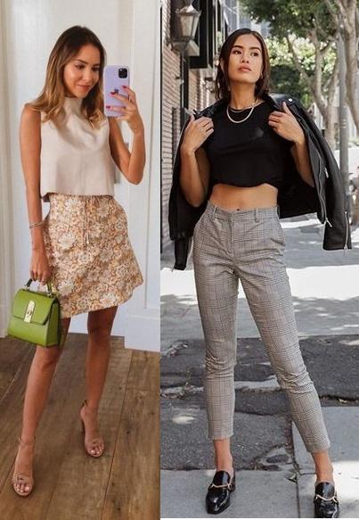 Looks inspiração com blusa cropped, Luisa Accorsi, Jill Wallace