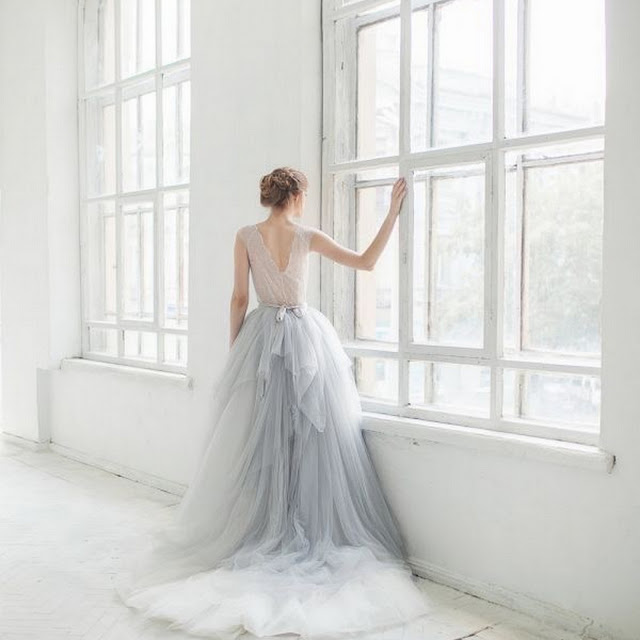 Pale Grey Bridal Gowns by Cool Chic Style Fashion