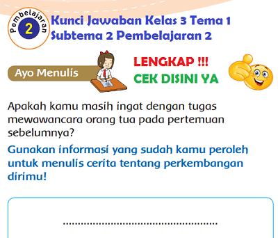 Kunci Jawaban Kelas 3 Tema 1 Subtema 2 Pembelajaran 2 www.simplenews.me