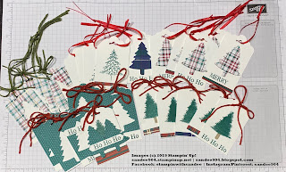 Merry Christmas to All, Perfectly Plaid Stamp Set, Pine Tree Punch #ilovepapercrafts