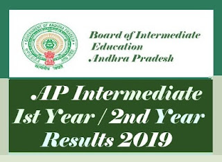 AP Inter Results 2019, AP Intermediate 1st Year / 2nd Year Results 2019, Intermediate Results 2019