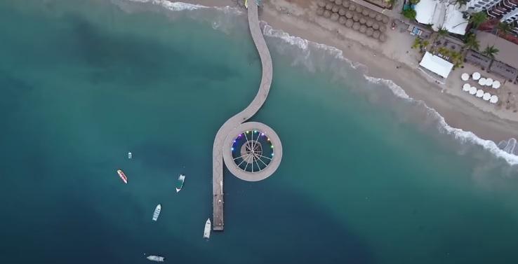 Vista Aerea de Malecon en Puerto Vallarta