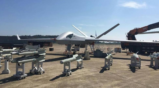 Image Attribute: Static Display of Wing Loong II UAV was first publicly revealed at the Airshow China 2016 in November 2016