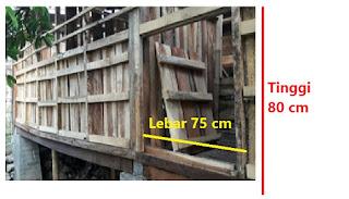 Gambar 3. Sistem pintu belakang tanpa engsel tinggi 80cm lebar 75cm