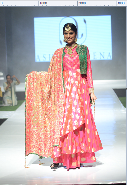 Model in Ashima-Leena Outfit.